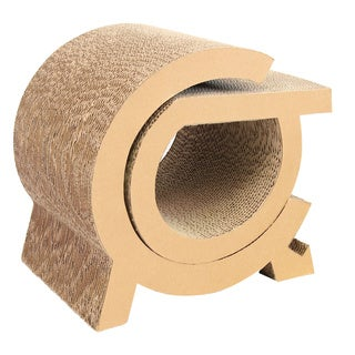 Purrrfect Life Brown Paper and Cardboard Cat Scratcher Tunnel