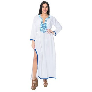 La Leela Swimwear SOFT Rayon Bikini Cover up Beach Swimsuit Women Dress White