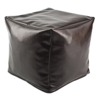 Tinga Moreno Faux Leather 12.5-inch Square Footstool