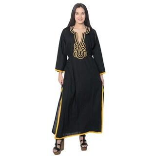 La Leela Swimwear SOFT Rayon Bikini Cover up Beach Swimsuit Women Dress Black