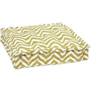 Green Chevron Cushion