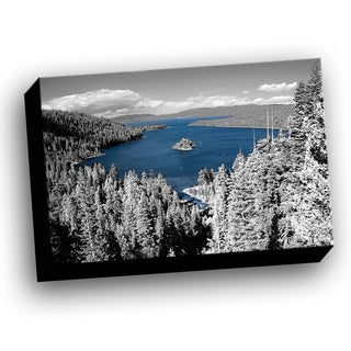 Lake Tahoe Emerald Bay Color Splash Printed Framed Canvas