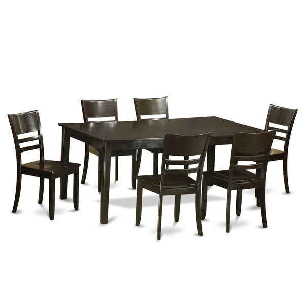 Formal Dining Room Sets For 6: Henley Cappuccino-Finish 7-piece Formal Dining Room Set