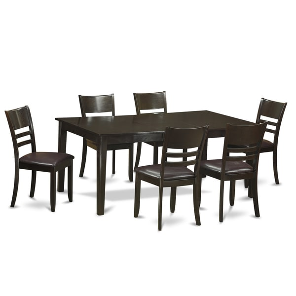 Formal Dining Room Sets For 6: Shop Henley Cappuccino-Finish 7-piece Formal Dining Room