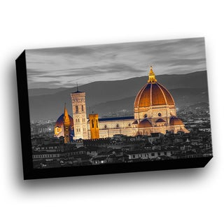 Florence Italy Duomo Color Splash Printed Framed Canvas