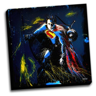 Superman Colorful Art Printed Canvas Stretched Framed Ready To Hang