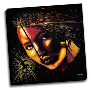 Hunger Games Colorful Art Printed Canvas Stretched Framed Ready To Hang