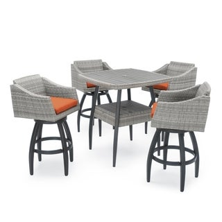 RST Brands Cannes Tikka Orange 5-piece Barstool Set