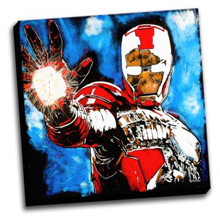 Iron Man Colorful Art Printed Canvas Stretched Framed Ready To Hang