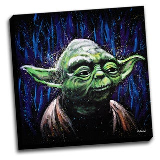 Yoda Colorful Art Printed Canvas Stretched Framed Ready To Hang