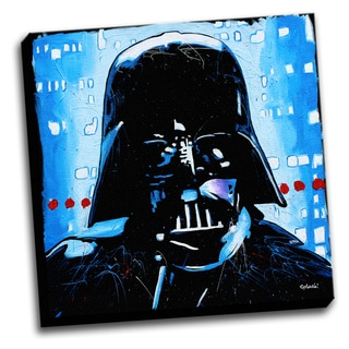 Dath Vader Colorful Art Printed Canvas Stretched Framed Ready To Hang