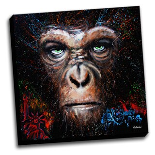 Caesar Ape Colorful Art Printed Canvas Stretched Framed Ready To Hang