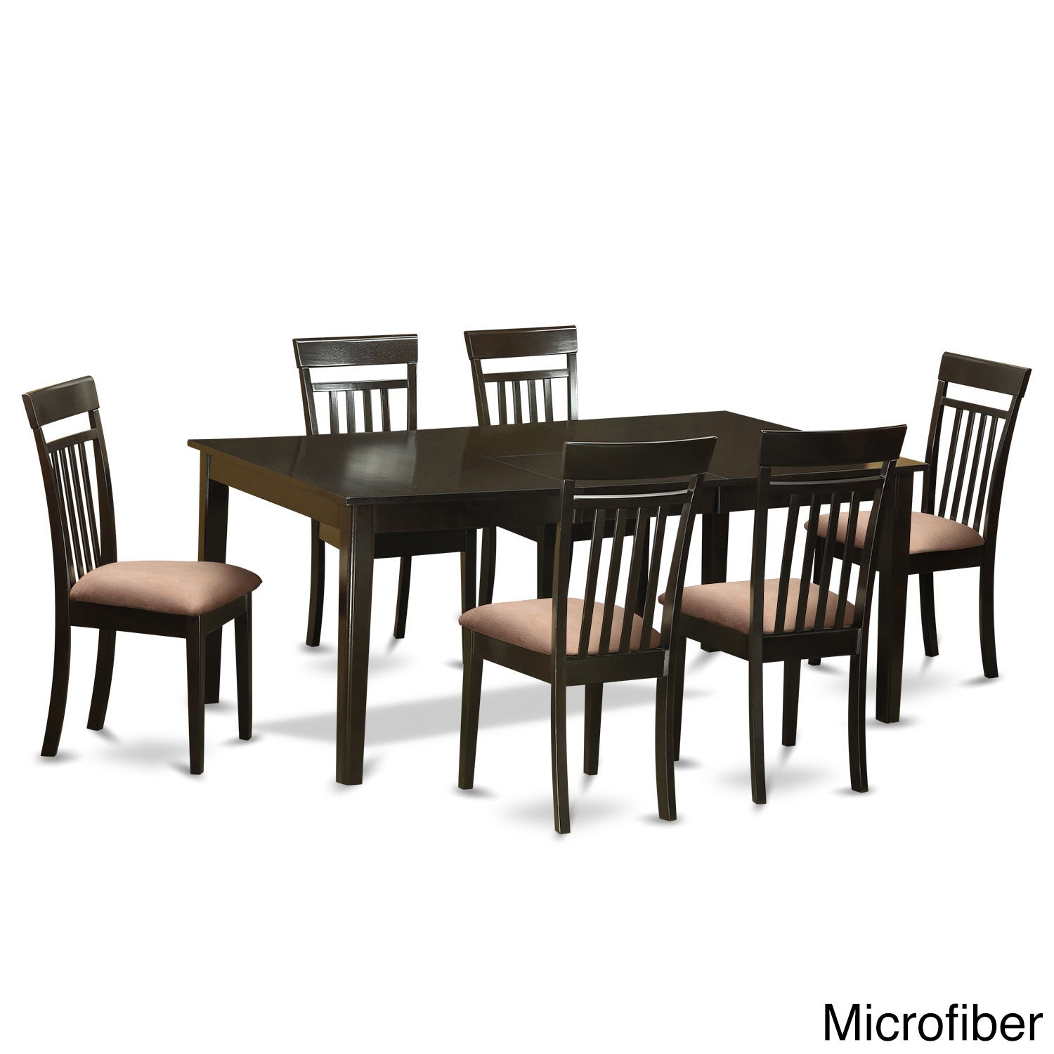 HECA7-CAP Cappuccino Rubberwood 7-piece Formal Dining Roo...
