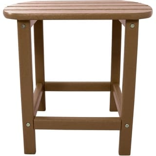 Hanover Outdoor Teak All-Weather Side Table
