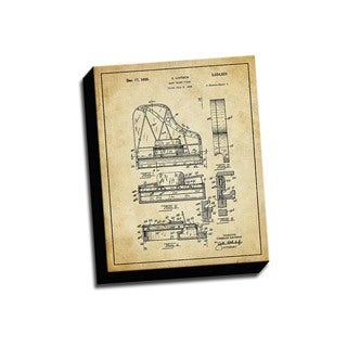 Piano Grand Patent Drawing Printed Canvas