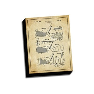 Golf Club Patent Drawing Printed Canvas
