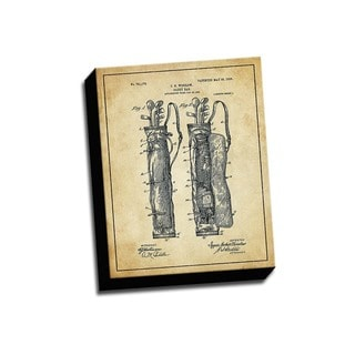 Golf Bag Patent Drawing Printed Canvas