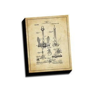 Anchor Patent Drawing Printed Canvas