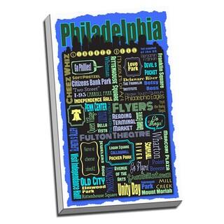 Philadelphia Metro Montage Neighborhoods and Landmarks Printed Canvas