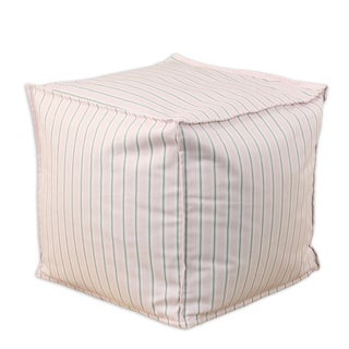 Trey Bella-Storm Twill 12.5-inch Square Seamed Beads Footstool