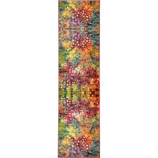 Unique Loom Barcelona Multicolored Runner Rug (2'7 x 10')
