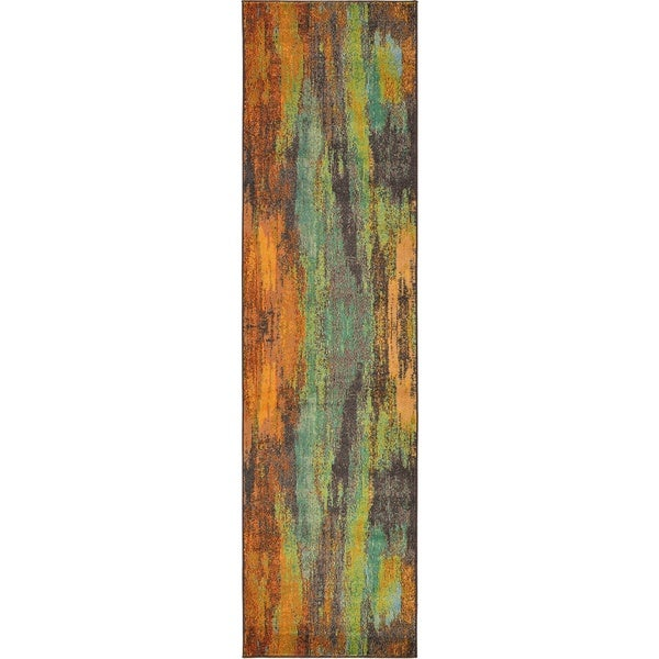 Barcelona Multi Green Runner Rug 2 7 X 10 Free