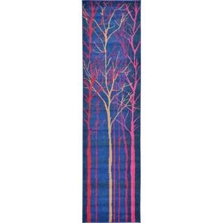 Barcelona Blue/Red Runner Rug ( 2'7 x 10')