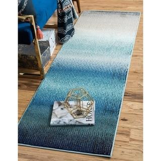 Barcelona Blue/Grey Runner Rug ( 2'7 x 10')