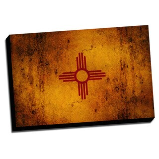New Mexico State Flag Distressed State Flag Stretched Canvas