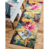 Unique Loom Barris Estrella Runner Rug - Multi - 2' 7 x 10'