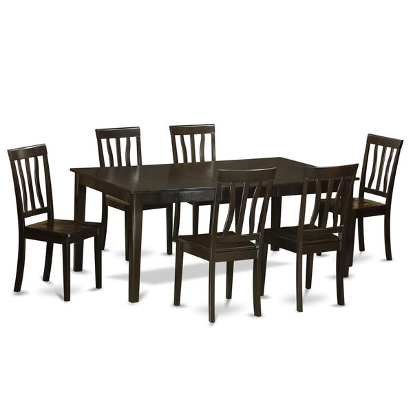 Kitchen Table And 6 Chairs: Shop Henley HEAN7-CAP Dining Table With Leaf And 6 Kitchen Chairs 7-piece Dining Set