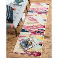 Unique Loom Laurnell Barcelona Runner Rug - 2' 7 x 10' 0