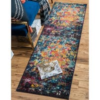 Unique Loom Guell Estrella Runner Rug - Multi - 2' 7 x 10'