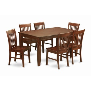 DUNO7-MAH 6-chair 7-piece Dinette Table Set