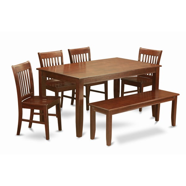 Kitchen Bench Finishes: Shop DUNO6D-MAH-C Mahogany Finish 4-chair And Dining Bench