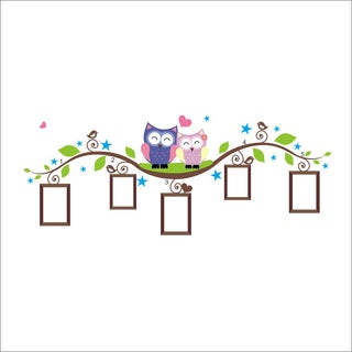 HomeSource Branch of Frames and Owls 12-inch x 36-inch Removable Wall Graphic