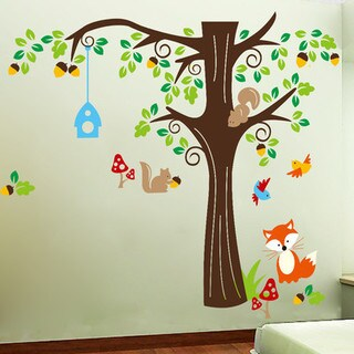 HomeSource Tree Full of Life and Friends Removable Wall Graphic