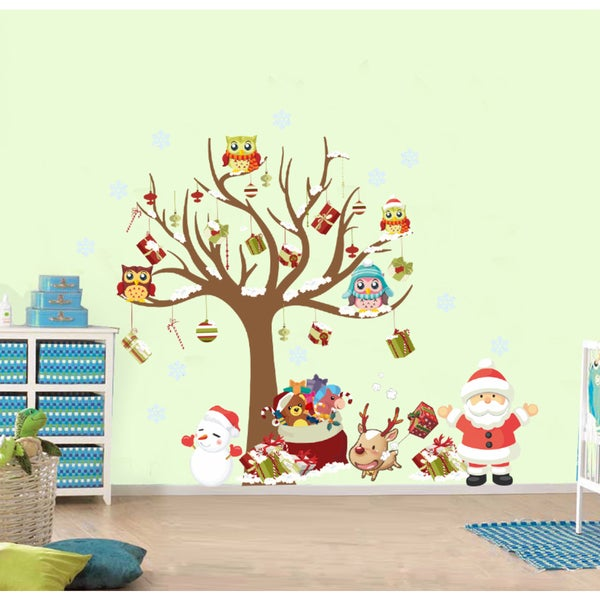 HomeSource A Tree and Its Christmas Friends Removable Wall Graphic