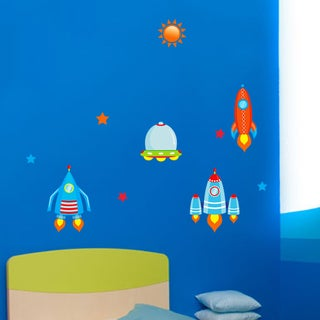 HomeSource Rockets in Flight 12-inch x 36-inch Removable Graphic Decals
