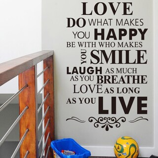 Do What Makes You Happy' 12-inch x 36-inch Removable Wall Art Decal