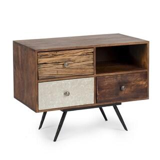 Alden Brown Wood Cabinet
