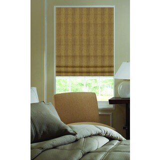 Ashton Camel Stripe Roman Shade 42 to 42.5-inch Wide