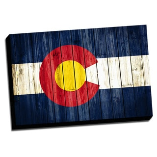 Colorado Distressed State Flag Stretched Canvas Wall Art