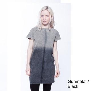 AtoZ Short Sleeve Ombre Cotton Tunic Dress