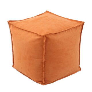 Slam Dunk Tangerine 12.5-inch Square Seamed Beads Footstool