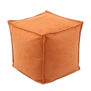 Slam Dunk Orange Polyester 17-inch Square Ottoman