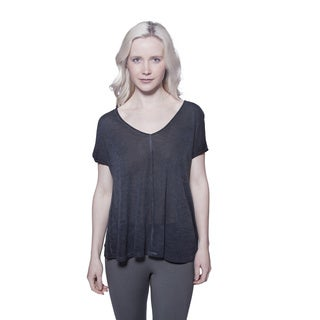 AtoZ Short Sleeve Soft Slub Viscose Tee