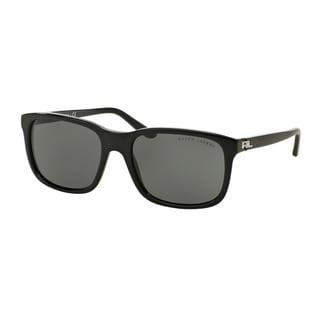 Ralph Lauren Men's RL8142 500187 Black Plastic Square Sunglasses