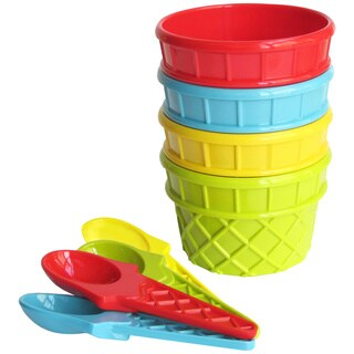 American Atelier Plastic 8-piece Ice Cream Set