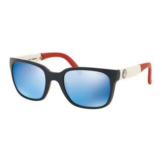 Polo Ralph Lauren Men's PH4111 559355 Blue Plastic Square Sunglasses